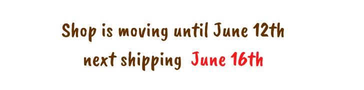 Versandpause Juni 2020