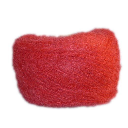 Pillar Box Red - Brushed Mohair Extra Fine